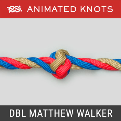 Double Matthew Walker Knot - stopper knot