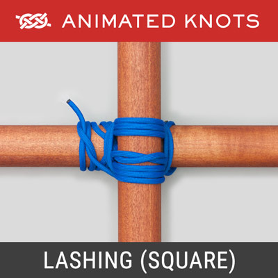 Lashing - Square - Binds two poles together at a 90-degree angle