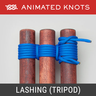 Lashing for Tripod - Joins three poles to one another