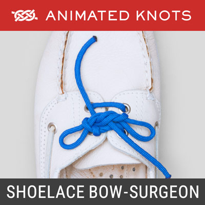 Shoelace Bow Knot - Surgeons Method - Tie Shoes
