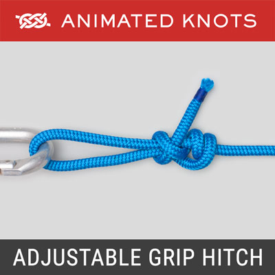 Adjustable Grip Hitch - Used to tension a rope or guy line