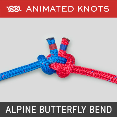 Alpine Butterfly Bend - Reliable bend used to join two ropes