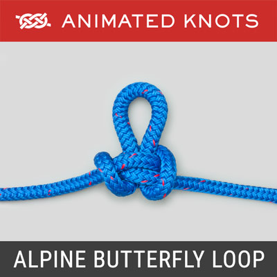 Alpine Butterfly Loop - Secure loop in middle of a rope