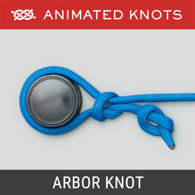 Arbor Knot - attaches fishing line to the Arbor or Spool Center