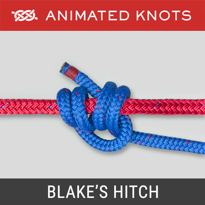 Blake's Hitch - Slide and grip knot used for ascent and descent