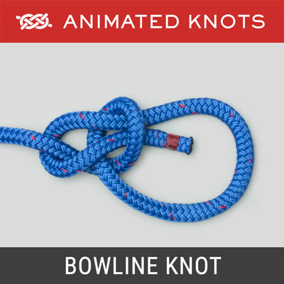 Bowline Knot - secure loop in the end of a piece of rope