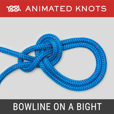 Bowline on a Bight Knot - double loop in middle of a rope