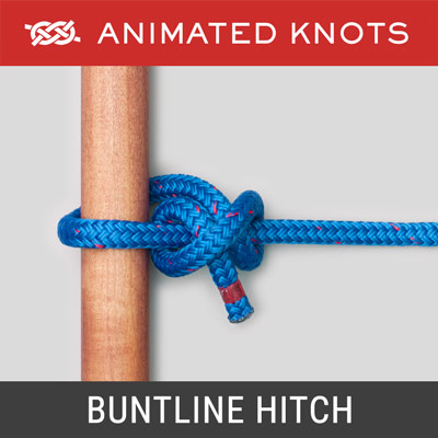 Buntline Hitch - used to join buntlines to square sails