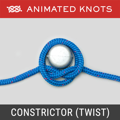 Constrictor Knot - Twist Method - quick temporary whipping for a fraying rope's end