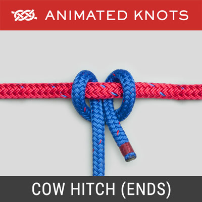 Cow Hitch using Rope Ends Method