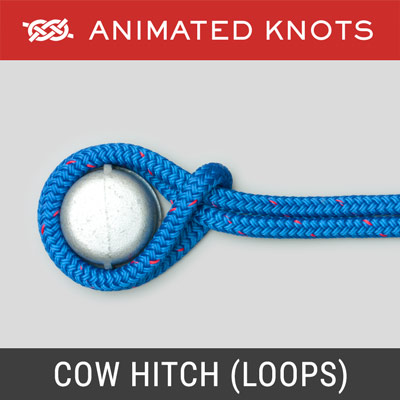 Cow Hitch using Rope Loops Method