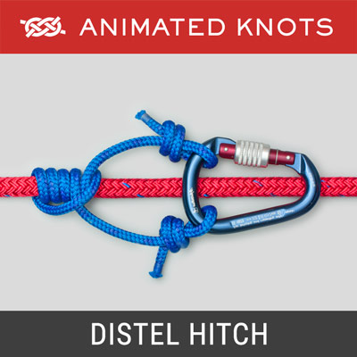 Distel Hitch - ascending a climbing rope