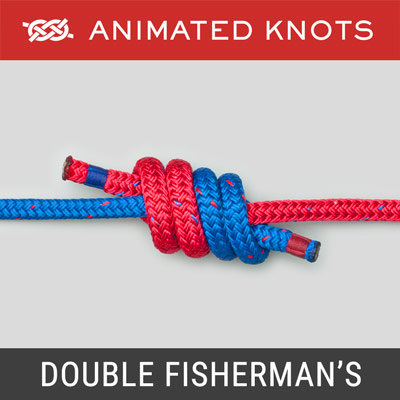 Double Fisherman's Bend Knot - joins two ropes