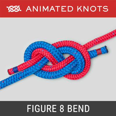 Figure 8 Bend - for joining two climbing ropes