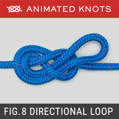 Figure 8 Directional Loop - Mid rope loop