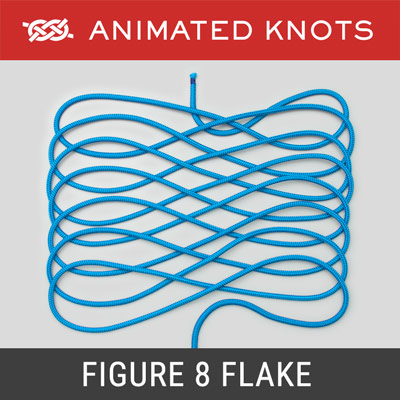 Figure 8 Flake Knot - Arranges a rope neatly