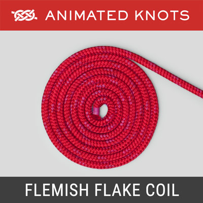 Flemish Flake Coil - stow a rope's end