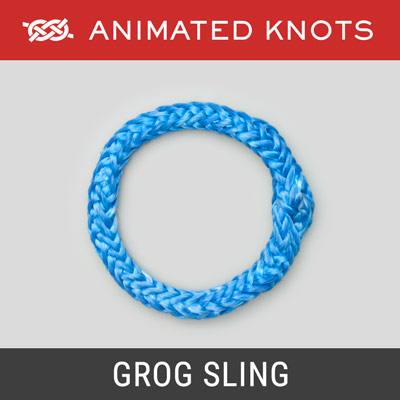 Grog Sling - a rope loop using hollow-braid rope