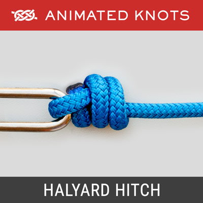 Halyard Hitch - Join halyard to a shackle at top of a sail