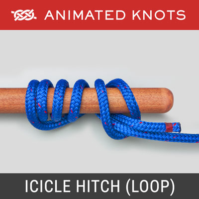 Icicle Hitch - Loop Method - Boating and Sailing Knot