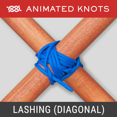 Lashing - Secures diagonal braces to hold a structure rigid
