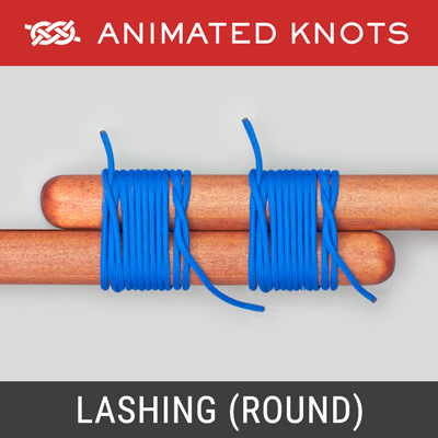 Lashing - Binds two poles together to make an end join