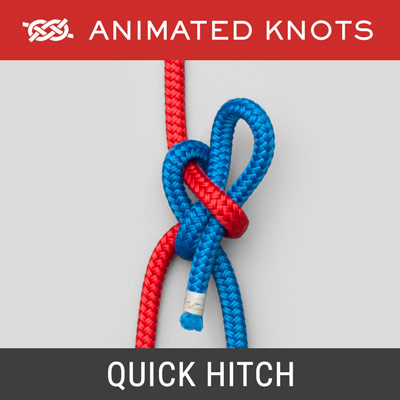 Quick Hitch Knot - Arborist's use to pull one rope aloft using another