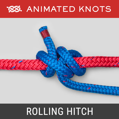 Rolling Hitch Knot - Slide and grip knot