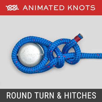 Round Turn and Two Half Hitches - Secure a rope to a post or ring