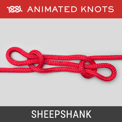 Sheepshank Knot - Used to shorten a length of rope