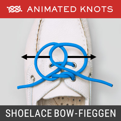 Shoelace Bow Knot - Fieggen Method - Tie Shoes