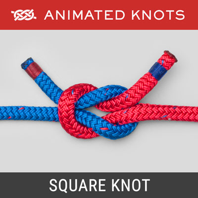 Square Knot - Simple way to join two ropes