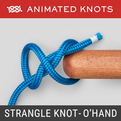 Strangle Knot - Double Overhand Method - Secure the neck of a bag or sack