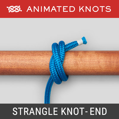 Strangle Knot - Rope End Method - Secure a fraying rope's end