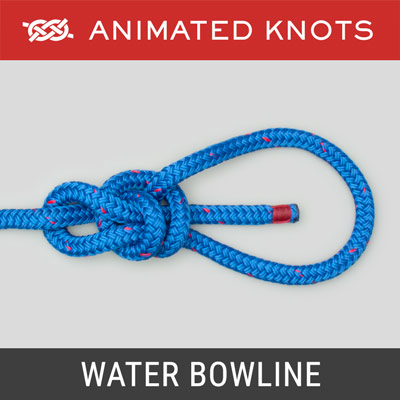 Water Bowline Knot - Bowline with an extra half hitch